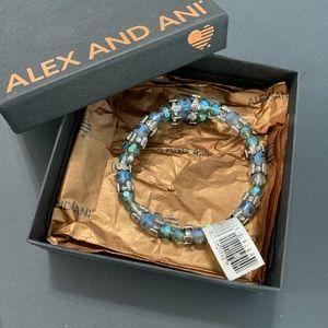 Blue beaded Alex and Ani
